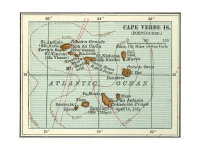 Inset Map of Cape Verde Islands (Portuguese)-Encyclopaedia Britannica-Giclee Print