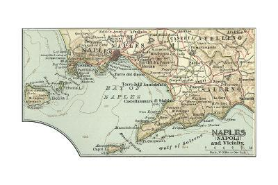 Inset Map of Naples (Napoli) and Vicinity. Italy-Encyclopaedia Britannica-Giclee Print