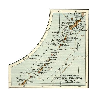 Inset Map of the North Extension of Kurile Islands; Japan-Encyclopaedia Britannica-Giclee Print