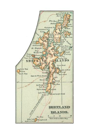 Inset Map of the Shetland Islands. United Kingdom-Encyclopaedia Britannica-Giclee Print