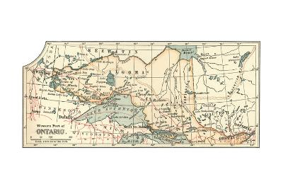 Inset Map of the Western Part of Ontario, Canada-Encyclopaedia Britannica-Giclee Print