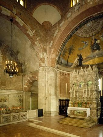 Inside and High Altar, St Peter in Golden Sky Church, Pavia, Italy, 8th-12th Century--Giclee Print