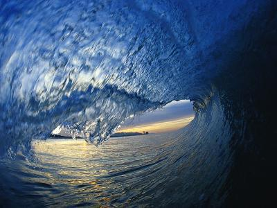 Inside Breaking Ocean Wave-David Pu'u-Photographic Print