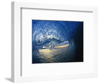 Inside Breaking Ocean Wave-David Pu'u-Framed Photographic Print