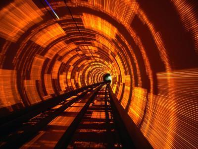 Inside Bund Tunnel, Shanghai, China-John Borthwick-Photographic Print