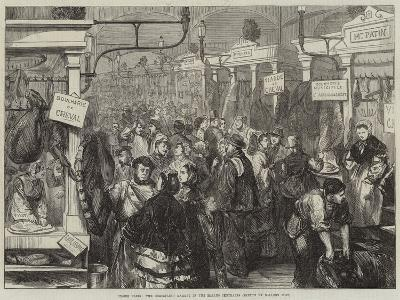 Inside Paris, the Horseflesh Market in the Halles Centrales--Giclee Print
