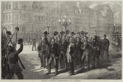 Inside Paris, the Provisional Government Reviewing the National Guard-Charles Joseph Staniland-Giclee Print