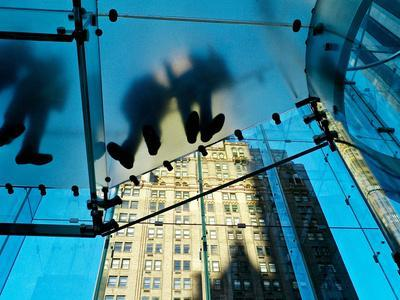 Inside the Apple Store, known as the Cube, on Fifth Avenue, New York-Kike Calvo-Photographic Print
