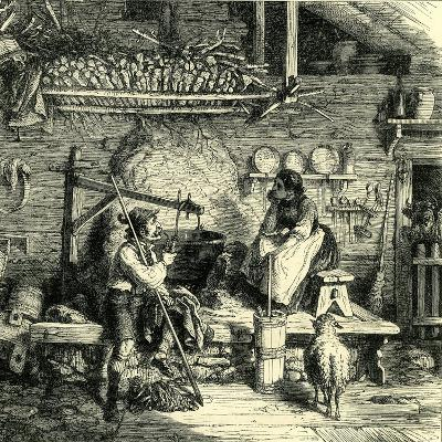 Inside the Chalet Switzerland--Giclee Print