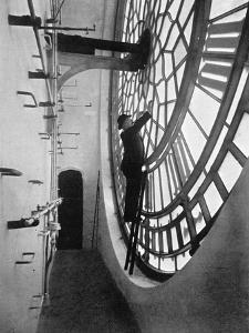 Inside the Clock Face of Big Ben, Palace of Westminster, London, C1905