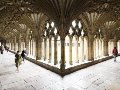 Inside the Cloisters at Canterbury Cathedral-Orien Harvey-Photographic Print