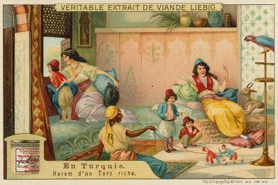 Inside the Harem of a Rich Turk--Giclee Print
