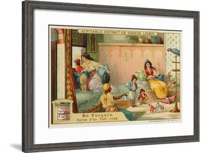 Inside the Harem of a Rich Turk--Framed Giclee Print