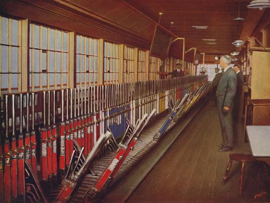 'Inside the Locomotive Yard Signal-Box, York', 1926-Unknown-Giclee Print