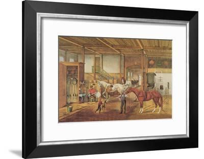 Inside the Stable--Framed Art Print