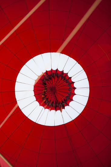 Inside View of a Hot Air Balloon During Landing-Harry Marx-Photographic Print