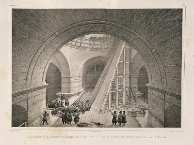 Inside View of the Cathedral and a Ramp, 1845-Auguste de Montferrand-Giclee Print