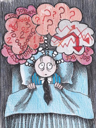 Insomnia of Businessman-tannene-Art Print