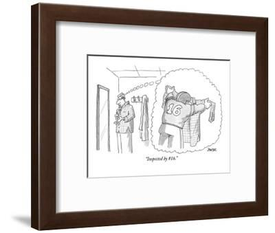 """Inspected by #16."" - New Yorker Cartoon-Jack Ziegler-Framed Premium Giclee Print"