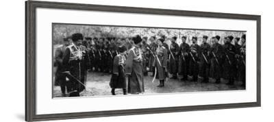 Inspecting Cossack Troops--Framed Photographic Print