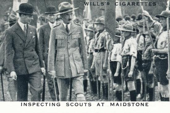 'Inspecting Scouts at Maidstone', 1929 (1937)-Unknown-Photographic Print