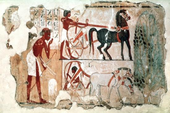 Inspecting the Fields, 1350 BC Artist: Unknown-Unknown-Giclee Print