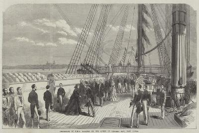 Inspection of HMS Galatea by the Queen in Osborne Bay, East Cowes--Giclee Print