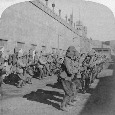 Inspection of the Cheshire Regiment in the Fort at Johannesburg, Boer War, South Africa, 1901-Underwood & Underwood-Giclee Print