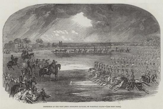 Inspection of the West Essex Yeomanry Cavalry, on Wanstead Flats--Giclee Print