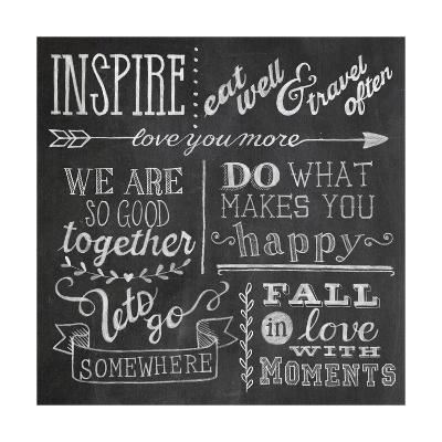 Inspiration Chalkboard III-Mary Urban-Art Print