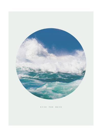 Inspirational Circle Design - Ocean Waves: Ride the Wave-michaeljung-Giclee Print