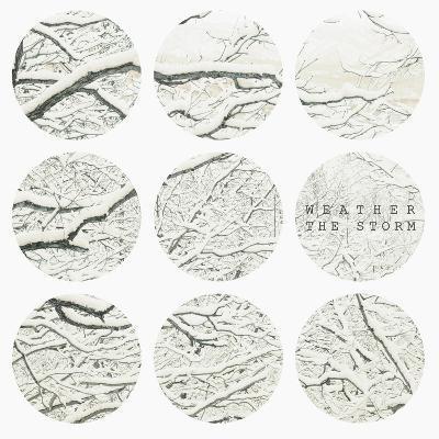 Inspirational Circle Design - Snowy Branches-WizData-Art Print