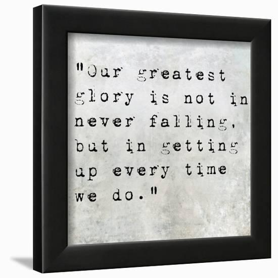 Inspirational Quote By Confucius On Earthy Background-nagib-Framed Art Print