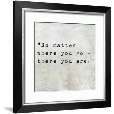 Inspirational Quote By Confucius On Earthy Background-nagib-Framed Premium Giclee Print