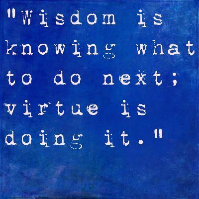 Inspirational Quote By David Star Jordan On Earthy Blue Background-nagib-Art Print