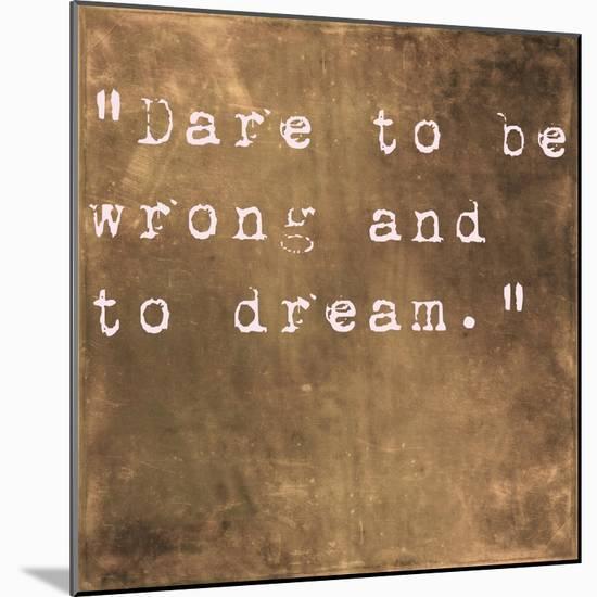Inspirational Quote By Friedrich Von Schiller On Earthy Brown Background-nagib-Mounted Premium Giclee Print