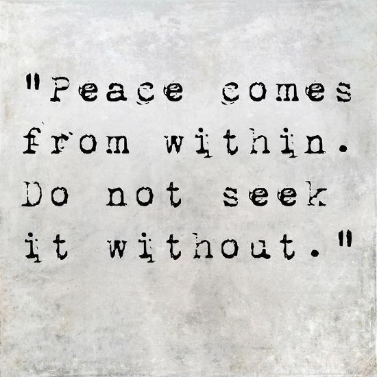 Inspirational Quote By Siddhartha Gautama (The Buddha) On Earthy Background-nagib-Premium Giclee Print