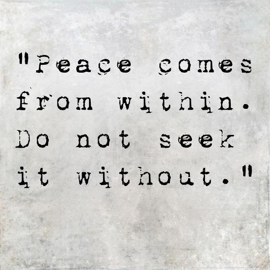 Inspirational Quote By Siddhartha Gautama (The Buddha) On Earthy Background-nagib-Art Print