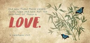 1 Corinthians 13:13 Faith, Hope and Love (Butterflies) by Inspire Me