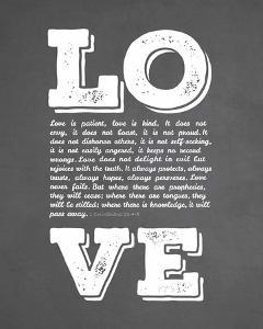 Corinthians 13:4-8 Love is Patient - Chalkboard by Inspire Me
