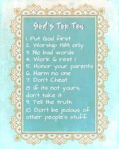 God's Top Ten Blue and Gold Design by Inspire Me