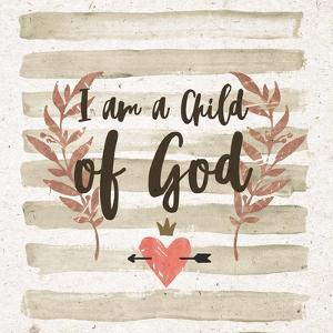 I am a Child of God Gray Stripes by Inspire Me