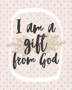 I am a Gift from God Dot Pattern by Inspire Me