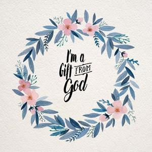 I'm A Gift From God Pink Flower Wreath by Inspire Me