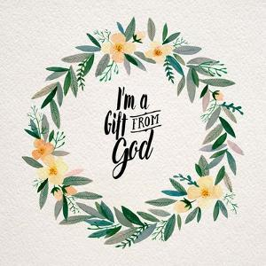 I'm A Gift From God Yellow Flower Wreath by Inspire Me