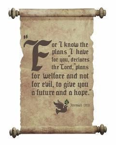 Jeremiah 29:11 For I know the Plans I have for You (Dove on Scroll) by Inspire Me