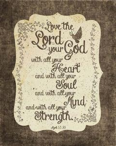 Mark 12:30 Love the Lord Your God (Bird) by Inspire Me