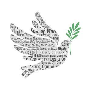 Names of Jesus Dove Silhouette White by Inspire Me