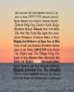 Names of Jesus Ocean Sunset by Inspire Me