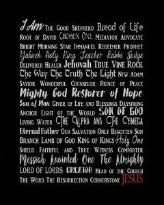 Names of Jesus Rectangle Gray and Red Text by Inspire Me